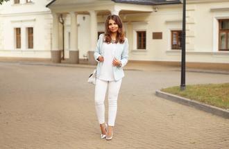 a piece of anna blogger shoes jacket pants bag jewels blouse