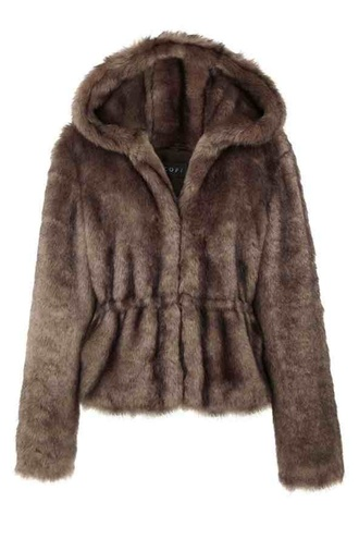 jacket river island faux fur coat brown cofi glamour mag hooded hooded coat style chocolate colour hat cute beanie for bad hair days