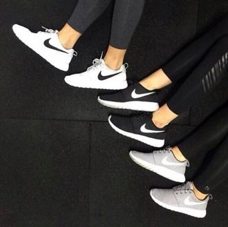 shoes nike black white grey