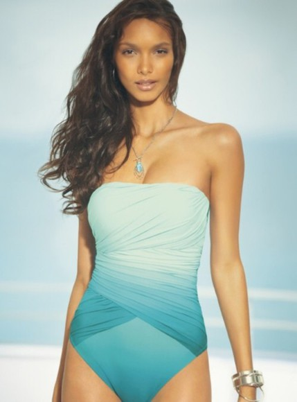 swimwear one piece ocean ombre