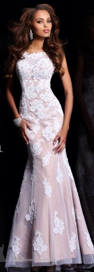 dress mermaid lace long prom