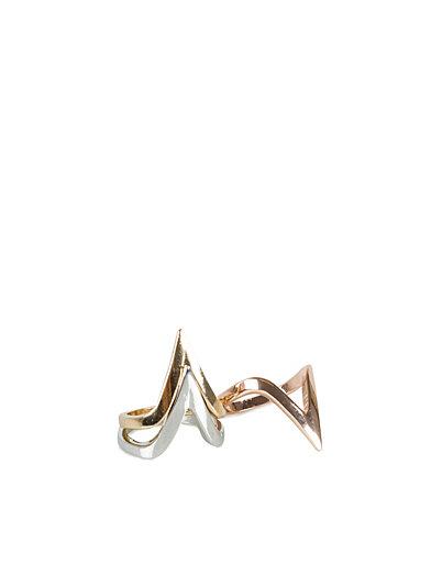 3 - Pack Triangle Ring Set - River Island - Guld - Smycken - Accessoarer - Kvinna - Nelly.com