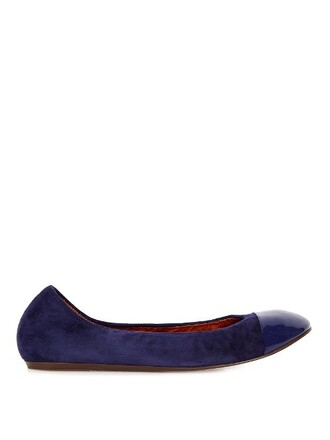 ballet flats ballet flats leather suede navy shoes