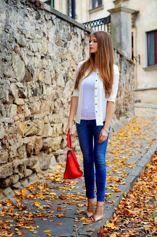 only my fashion style blogger t-shirt jeans bag