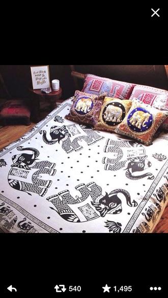 home accessory bed spread indian boho elephant elephant bedding bedding boho