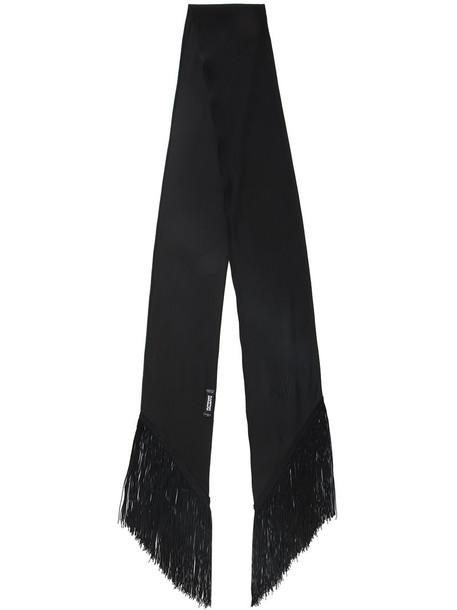 Rockins women scarf black silk