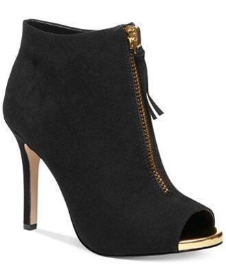 shoes cute zip peep toe heels black gold fashion lovely cutest