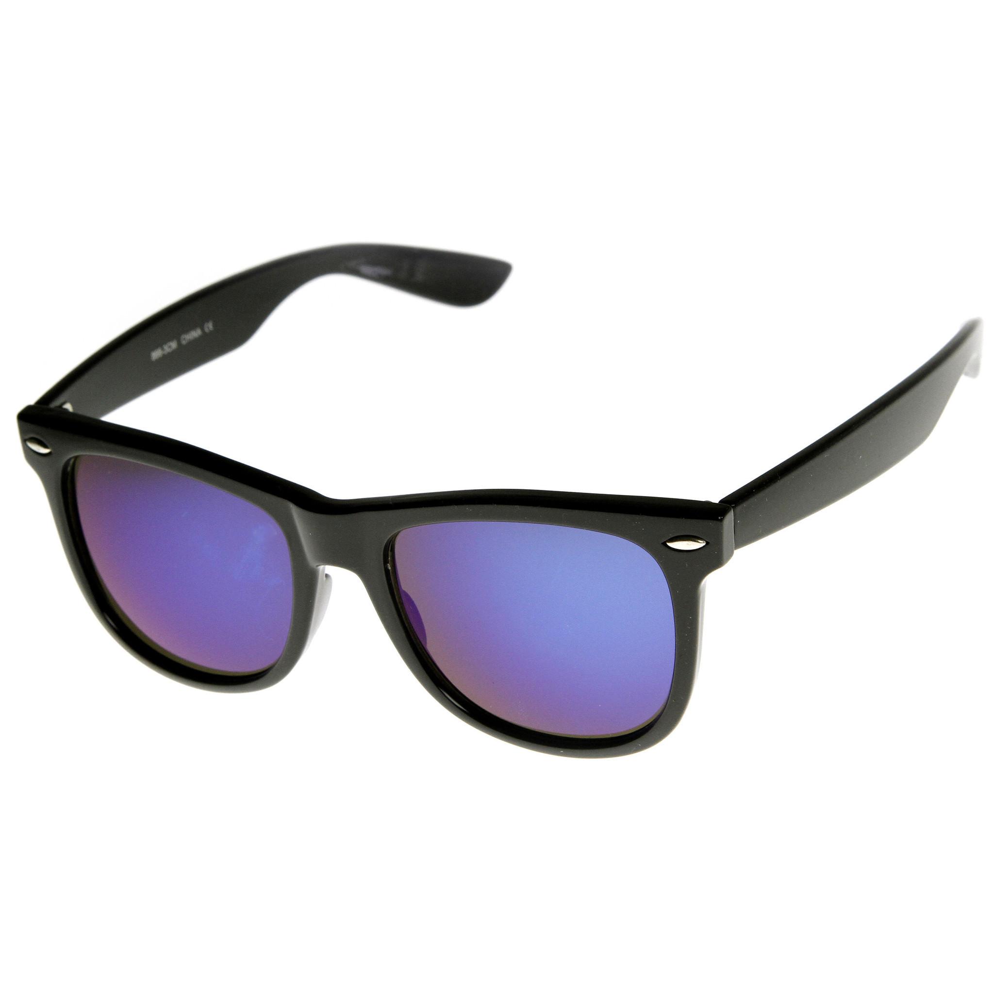 Hipster Trendy Colorful Flash Revo Lens Wayfarer Sunglasses 8078