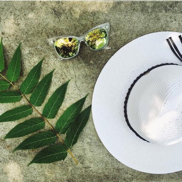 hat white white hat wide brim hat straw hat bogatte