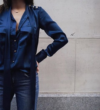 shirt pockets instagram navy buttons songofstyle satin