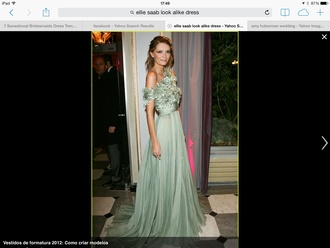 dress dress ellie saab celebrity style bridesmaid mischa barton