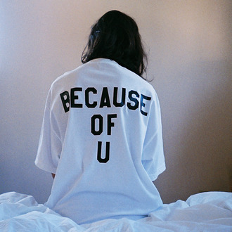 oversize quote on it t-shirt oversized white shirt oversized shirt streetwear streetstyle tumblr becauseofyou