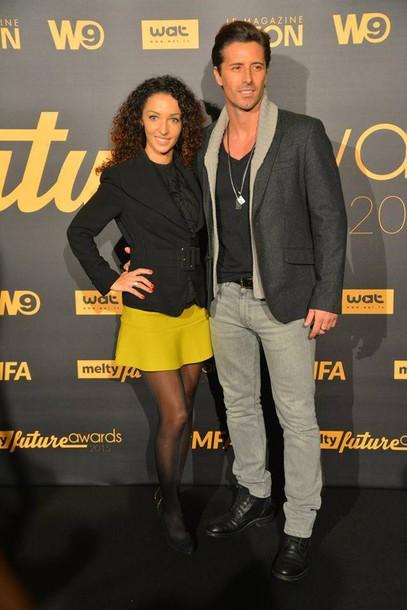 skirt yellow skirt jaune