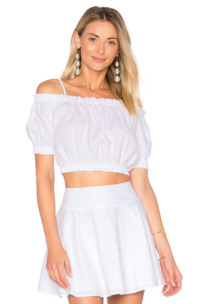 L'Academie top ruffle white