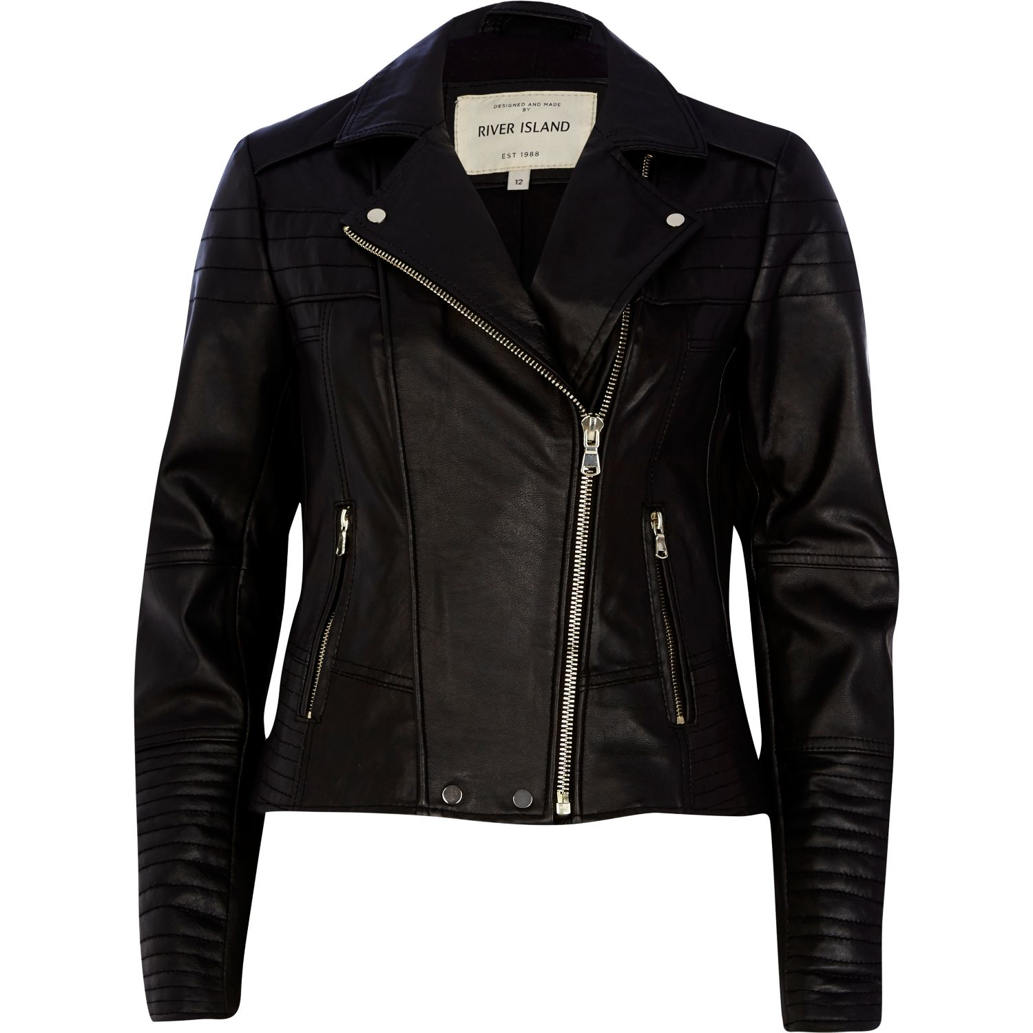Decrum Gal Gadot Women Leather Jacket - Black Quilted Leather Motorcycle Jacket. by Decrum. $ $ FREE Shipping on eligible orders. 5 out of 5 stars 1. Product Features quilted design motorcycle jacket look. Our black leather jacket GUESS Factory Women's Giardini Quilted Faux-Leather Jacket.