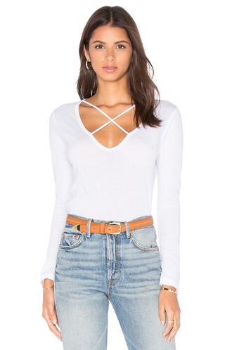 cross long white top