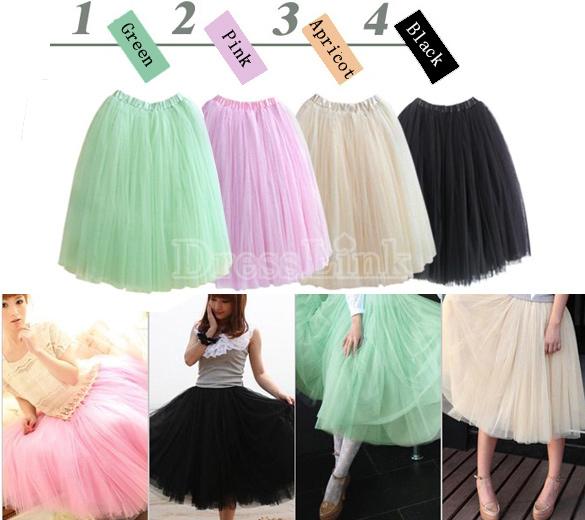 Stylish sweet women tutu princess skirt