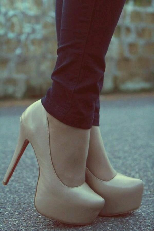 nude beige high heels heels