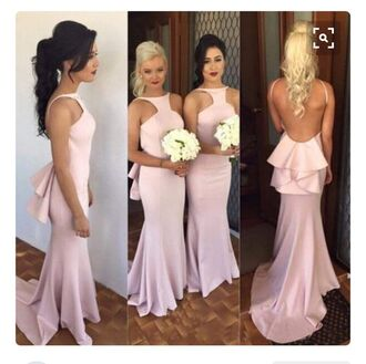 dress pink dress pink prom dress bridesmaid blush pink long dress gown prom dress long bridesmaid dress bridesmaid dress long bridesmaid dress cheap formal dresses bridesmaid mermaid prom dress mermaid bridesmaids dresses formal dress sexy formal dress backless backless dress backless prom dress