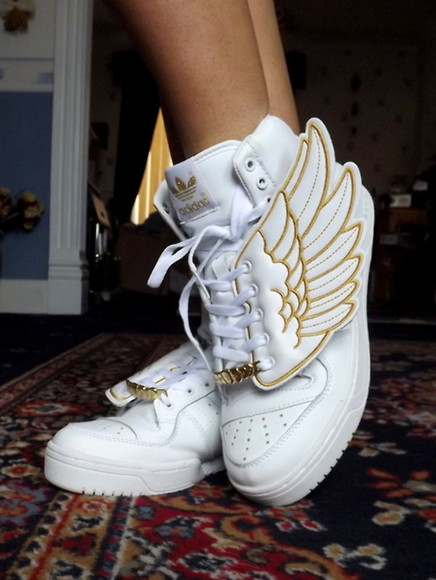 shoes high top sneaker sneakers white adidas wings adidas wings adidas sneakers