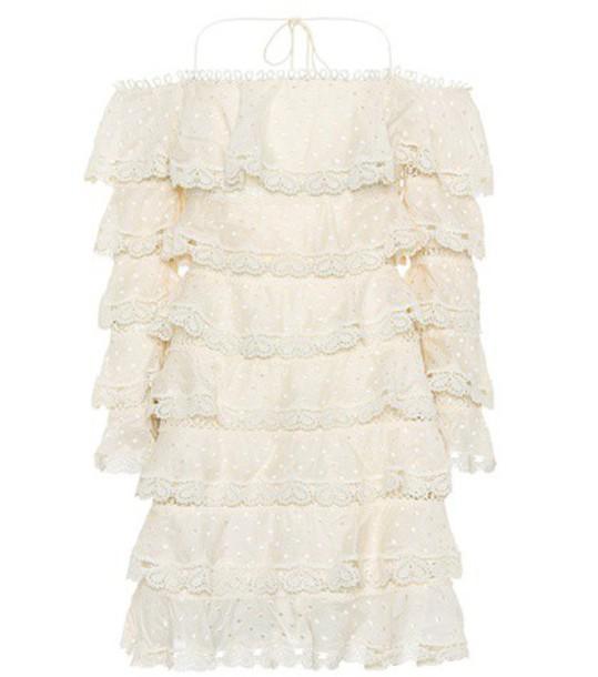 Zimmermann dress silk dress heart cotton silk white