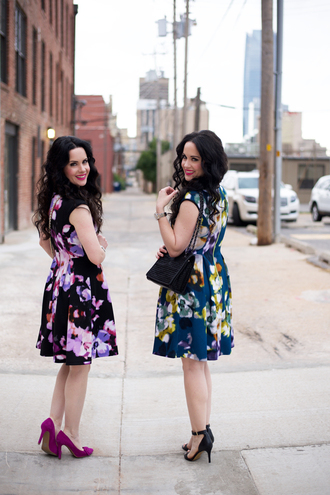 the double take girls blogger floral dress