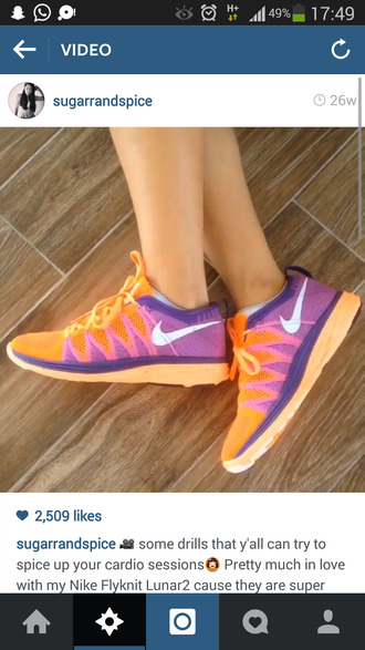 colorful nikes nike running shoes nike shoes fitness workout shoes womens nike shoes roshe runs womens running shoes purple shoes orange shoes