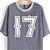 Blue Contrast Plaid 17 Print Loose T-Shirt - Sheinside.com