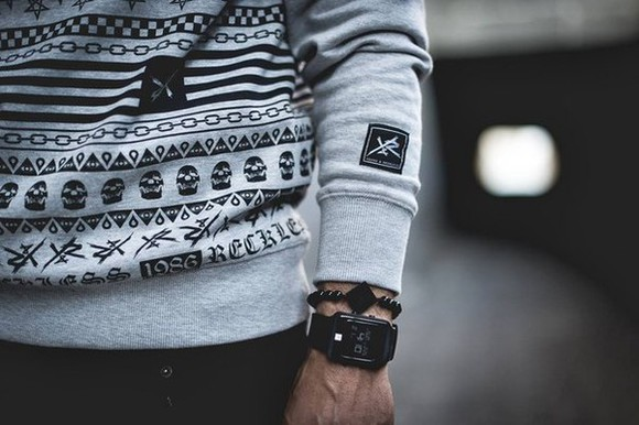 pirate skull 4 menswear mens sweater hipster menswear
