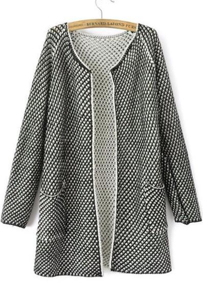 black style fashion fall outfits elegant girly cardigan grey cute sweaters pockets out gorgeous blazer boyfriend blazer