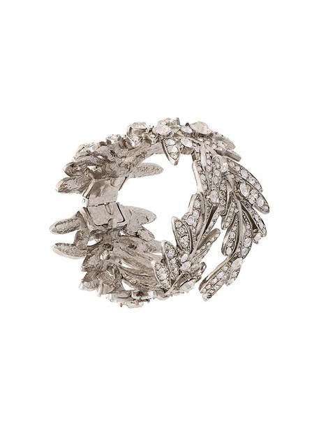 oscar de la renta tropical women grey jewels