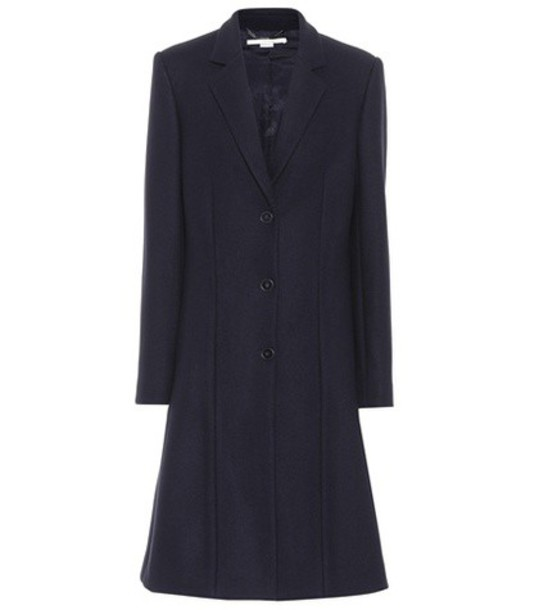 Stella McCartney coat wool coat wool blue