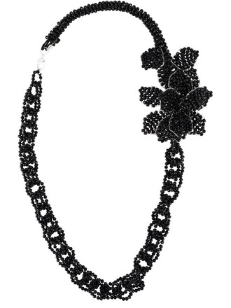 chain necklace women beaded necklace black jewels