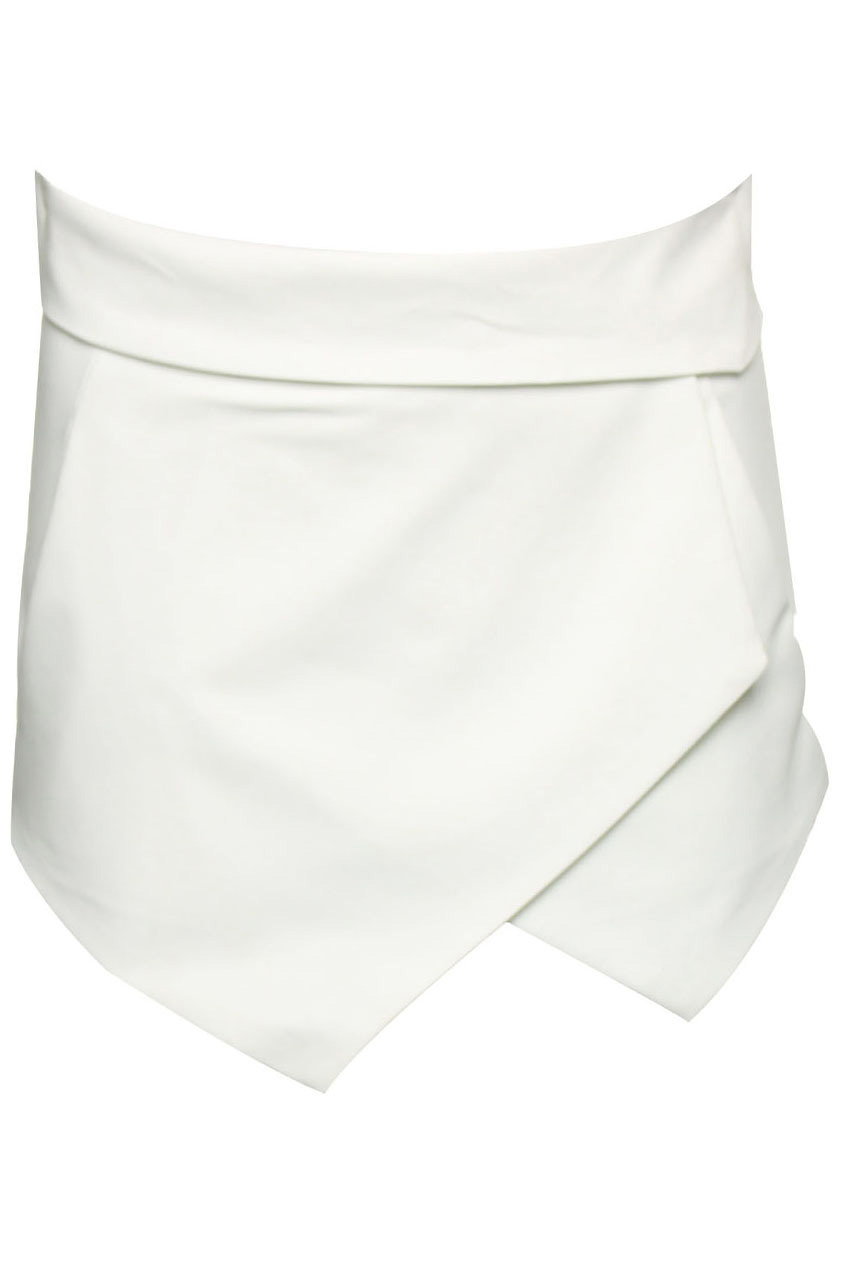 Asymmetric White Shorts, The Latest Street Fashion
