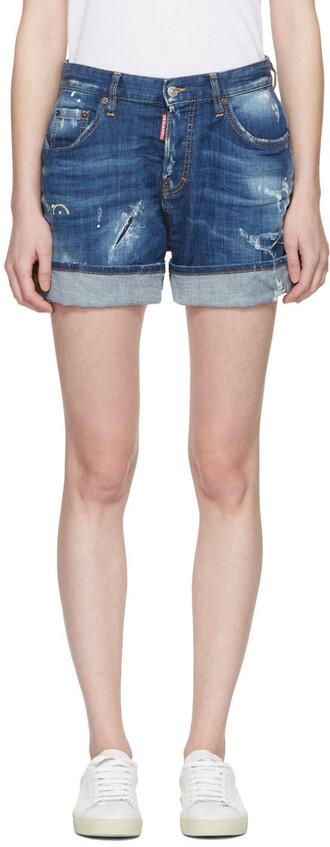 shorts kawaii blue
