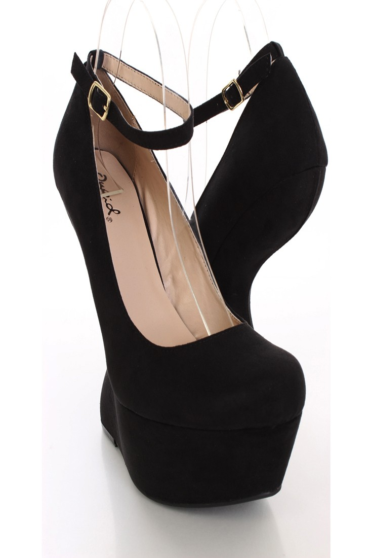 Black Heel Wedge Shoes