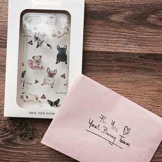 phone cover yeah bunny dog pugs frenchie poop iphone cover