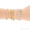 Women's cool crystal rhinestone cross love infinity stretch beaded bracelet b27u   ebay