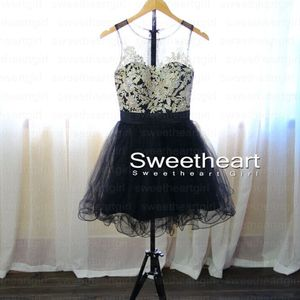 Black short mini prom dresses, homecoming dress, evening dress