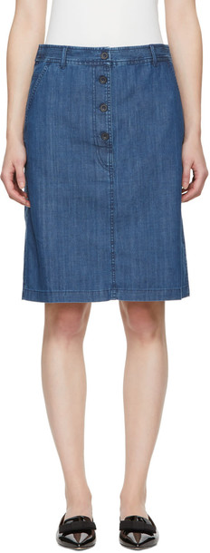 A.P.C. miniskirt denim skirt