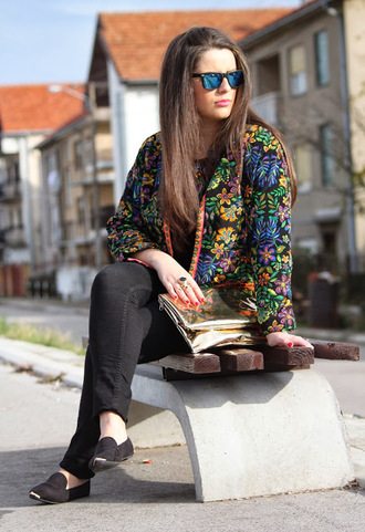 jacket floral floral print jacket shoes persunmall