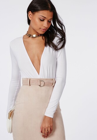 top bodysuit white bodysuit deep v white bodysuit deep v neck bodysuit deep v neck top white deep v neck bodysuit white top white blouse white