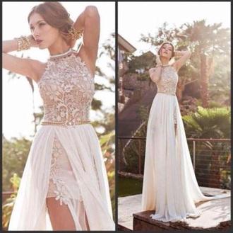 dress prom dress lace dress white dress