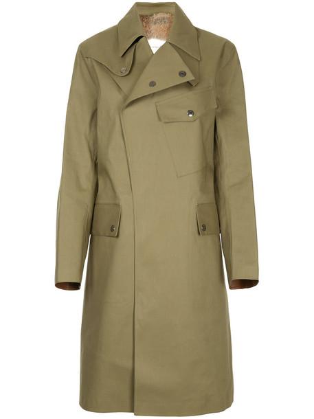 Mackintosh - rabbit fur lined coat - women - Rabbit Fur/Polyester - 36, Green, Rabbit Fur/Polyester