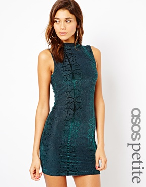 ASOS Petite | ASOS PETITE Exclusive Bodycon Mini Dress With Snake Print at ASOS