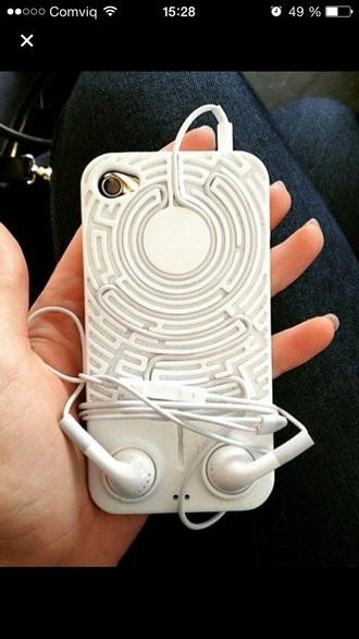 phone cover maze earphones iphone cover