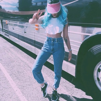 jeans halsey mom jeans hat