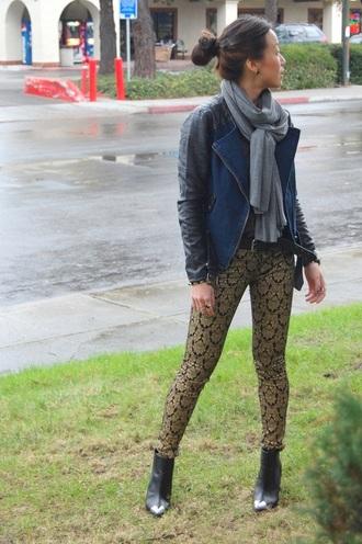 monkeyshines pants shoes sweater jewels jacket belt scarf