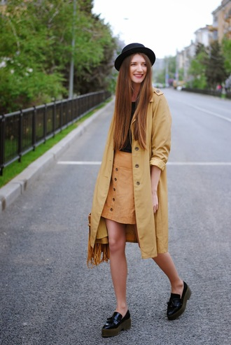 yuliasi blogger t-shirt shoes bag jewels hat coat skirt