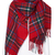 ROMWE | ROMWE Red Plaid Print Scarf, The Latest Street Fashion